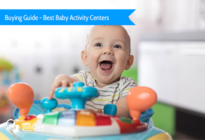 baby playing with best activity center