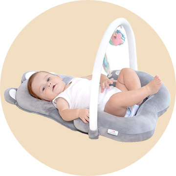 3-In-1 Baby Head Support Pillow Lounger