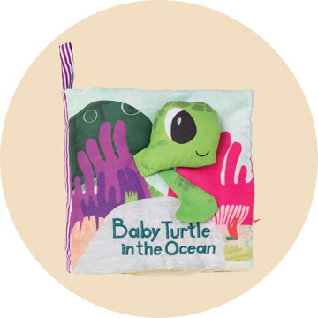 Manhattan Toy What's Outside Sea-Themed Soft Baby Activity Book