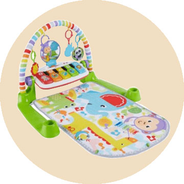 The Fisher Price Deluxe Kick 'n Play Piano Gym