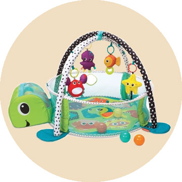 The Infantino Grow with me Activity Gym and Ball Pit
