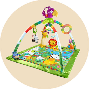 The Fisher Price Rainforest Music and Lights Deluxe Gym