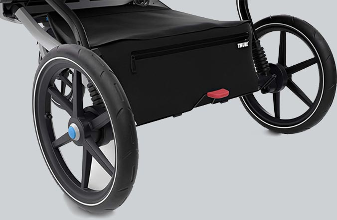 storage of thule urban double stroller