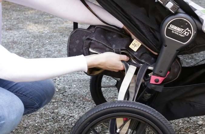storage of summit x3 double stroller
